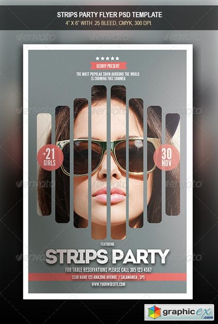 Strips Party Flyer 8541459