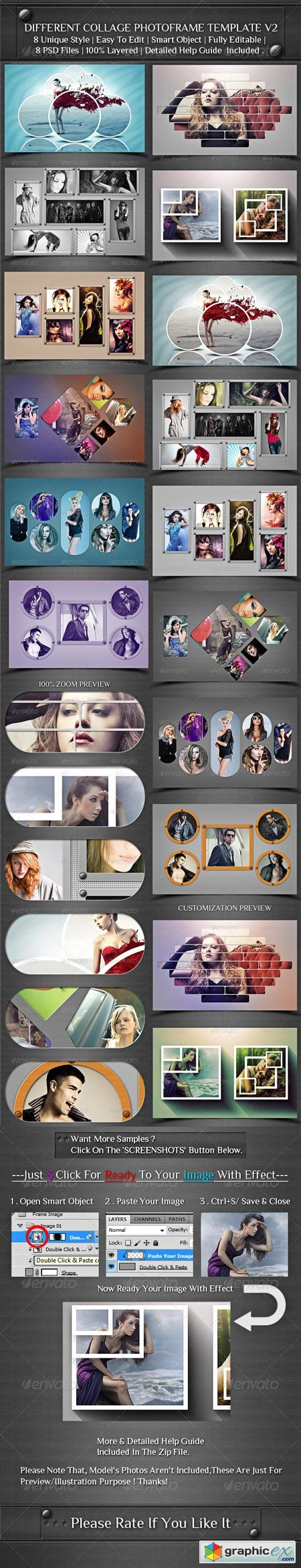 Different Collage Photoframe Template V2 8625116