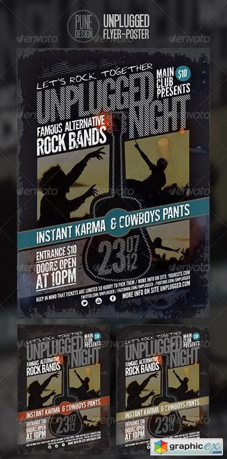Unplugged Flyer Poster Template 2488843