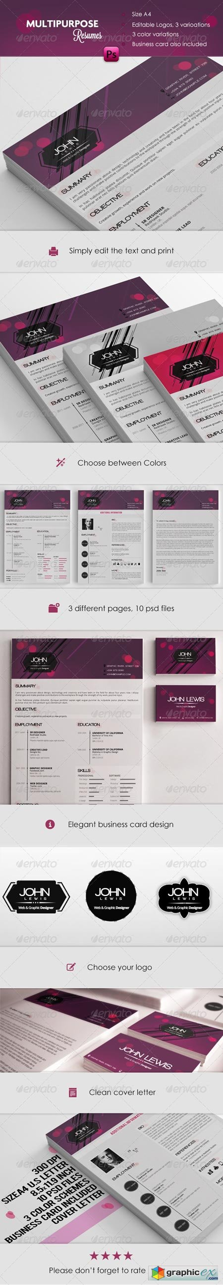 Multipurpose Resume + Cover Letters 5175558