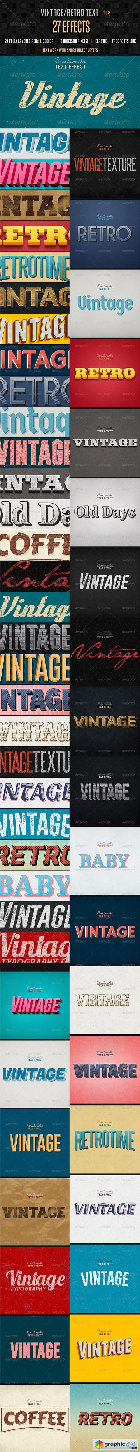 Vintage Retro Text Effects Col 8 8537330