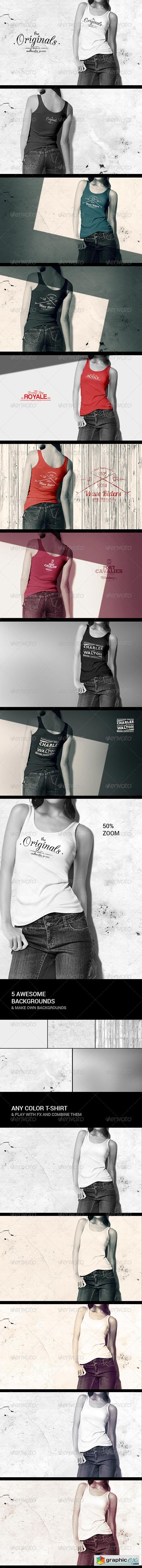 Women Tank Shirt Mock-up 8597690