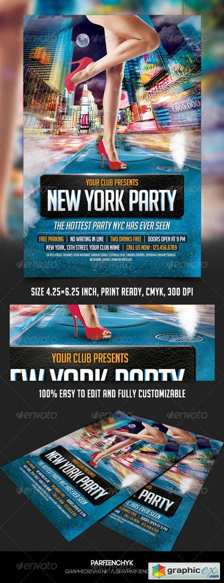 New York Party Flyer Template 8507775