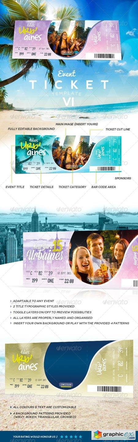Event Tickets Template VII 8203097