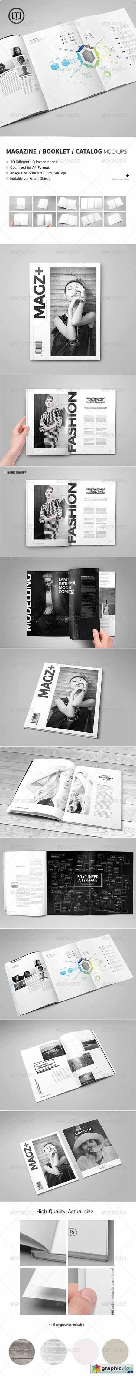 Magazine Catalog Booklet Mock-Up 8634242