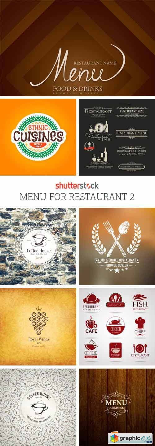 Amazing SS - Menu for Restaurant 2, 25xEPS