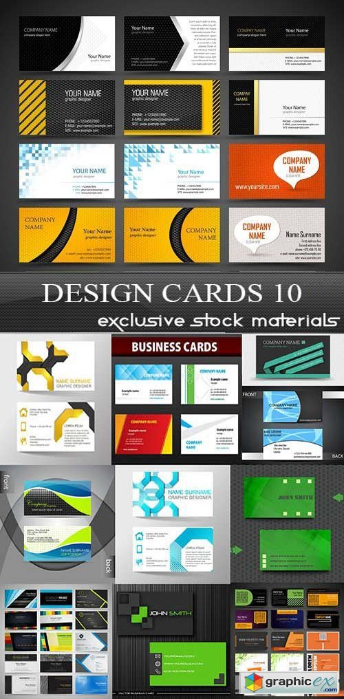Design Cards Collection 10, 25xEPS