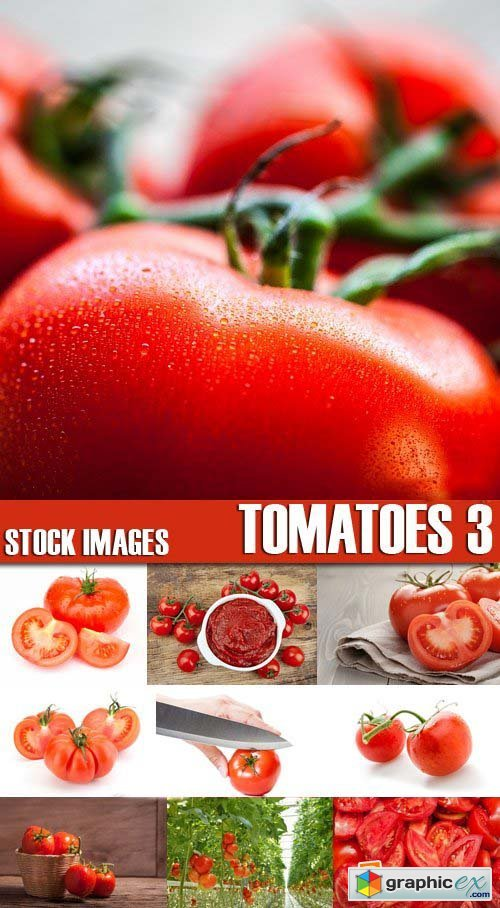 Stock Photos - Tomatoes 3, 25xJPG