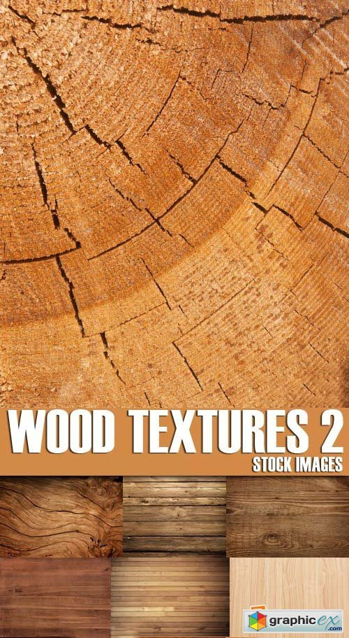 Stock Photos - Wood Textures 2, 25xJPG