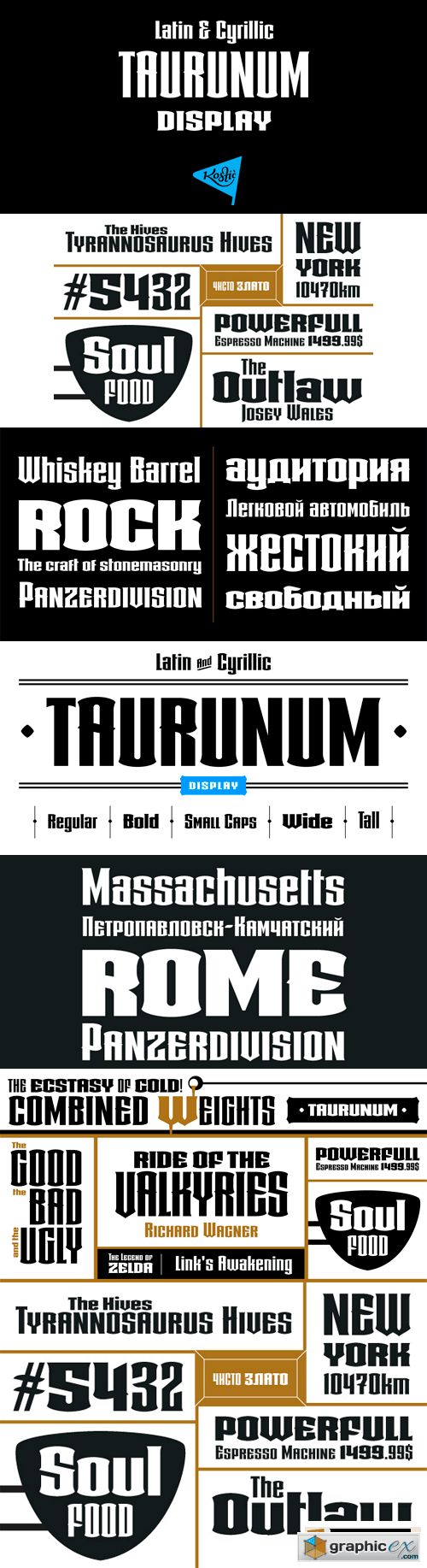 Taurunum Font Family - 5 Fonts for $100