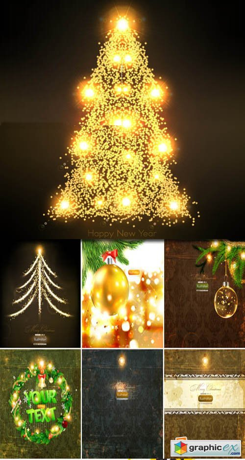 Christmas Modern Backgrounds 63xEPS
