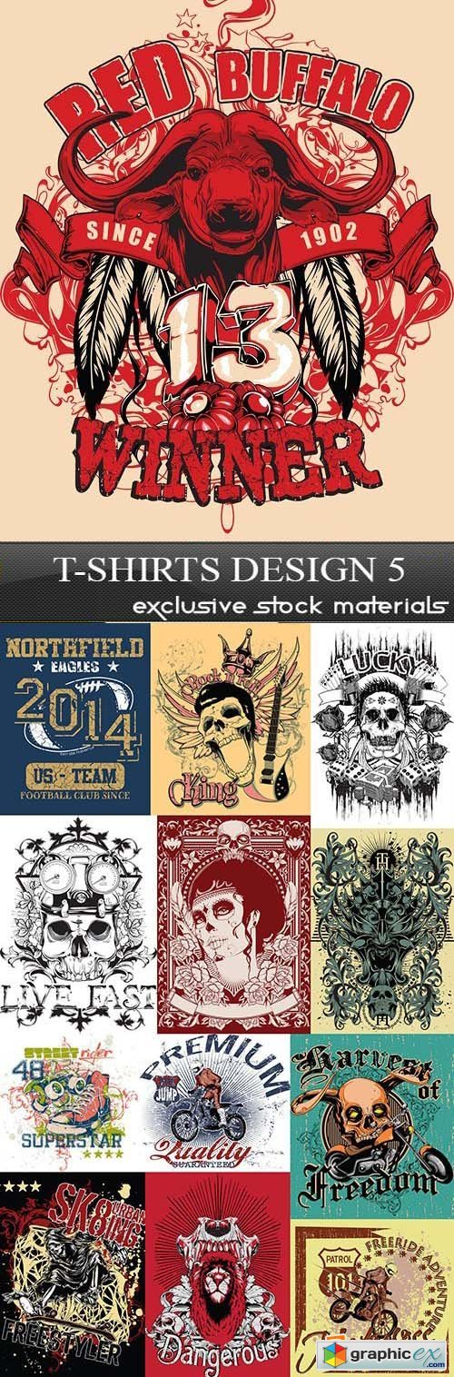 T-Shirts Design 5, 25xEPS