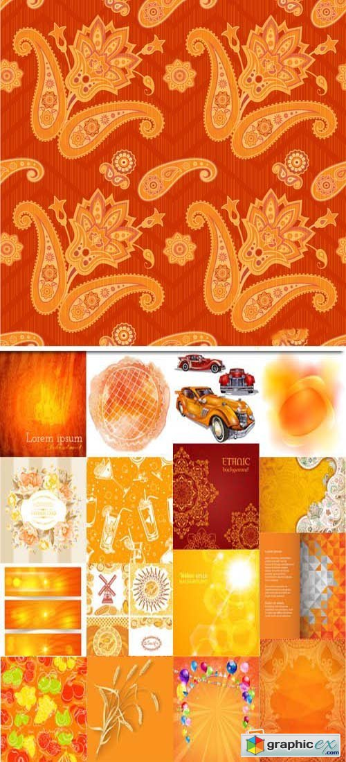 Orange background, 25xEPS