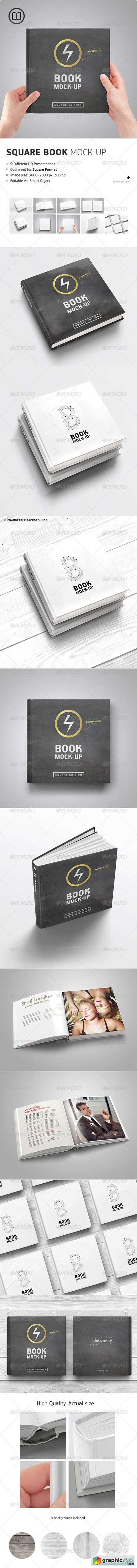 Square Book Mock-Up 8720820