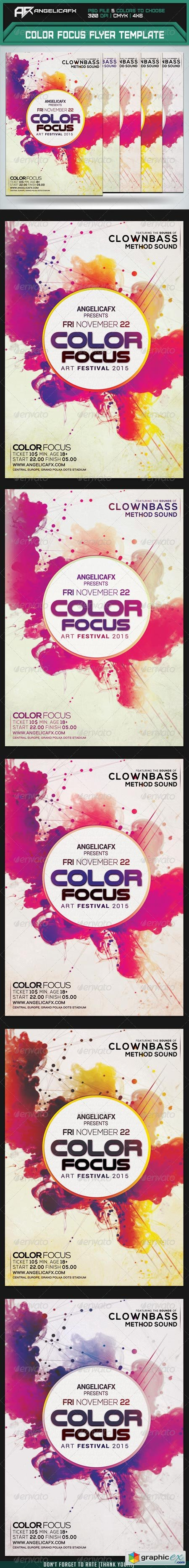 Color Focus Flyer Template 8448115