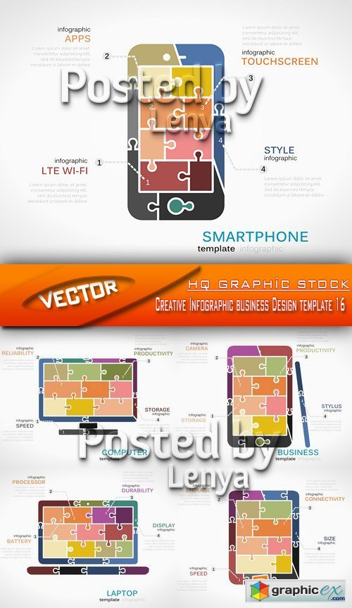 Stock Vector - Creative Infographic business Design template 16