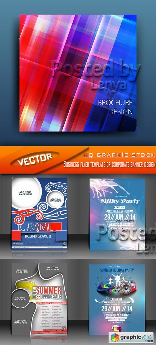 Stock Vector - Business flyer template or corporate banner design