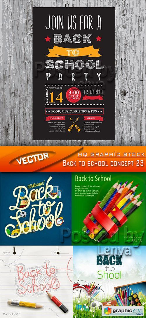 Stock Vector - Back to school concept 23