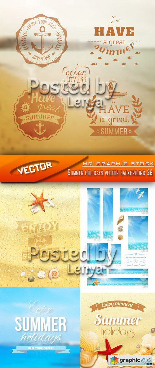 Stock Vector - Summer holidays vector background 26