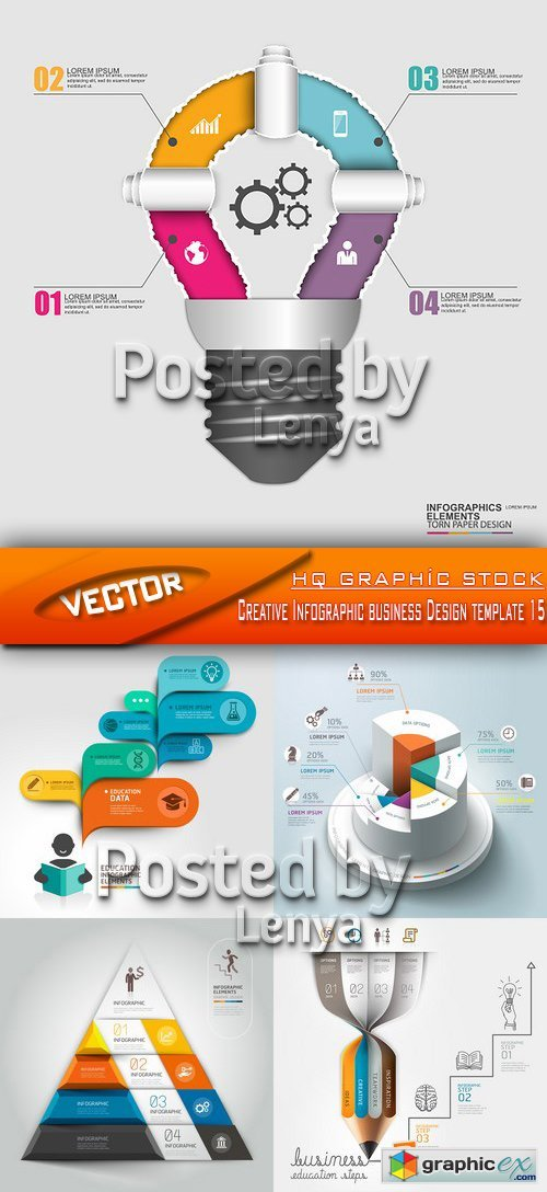 Stock Vector - Creative Infographic business Design template 15