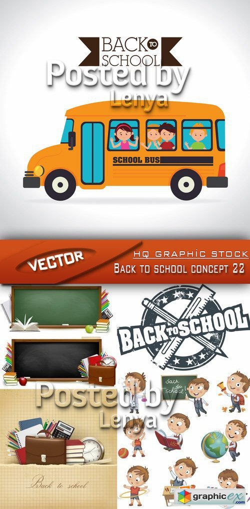 Stock Vector - Back to school concept 22