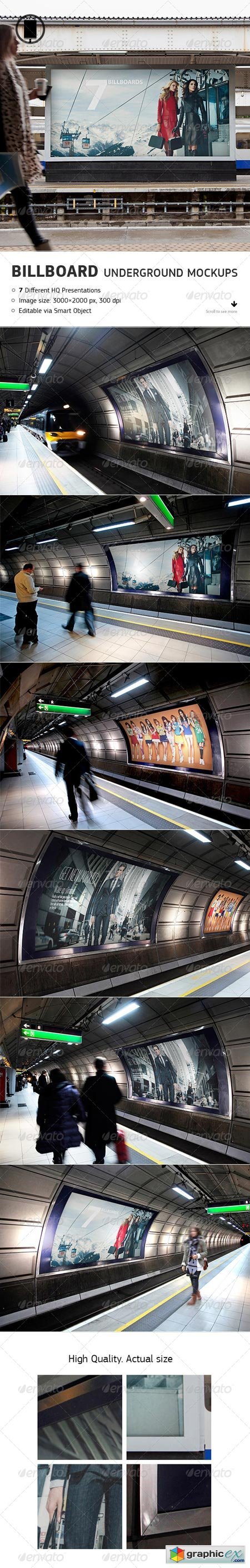 Billboard - Underground, Metro, Subway Mock-Up 8752105