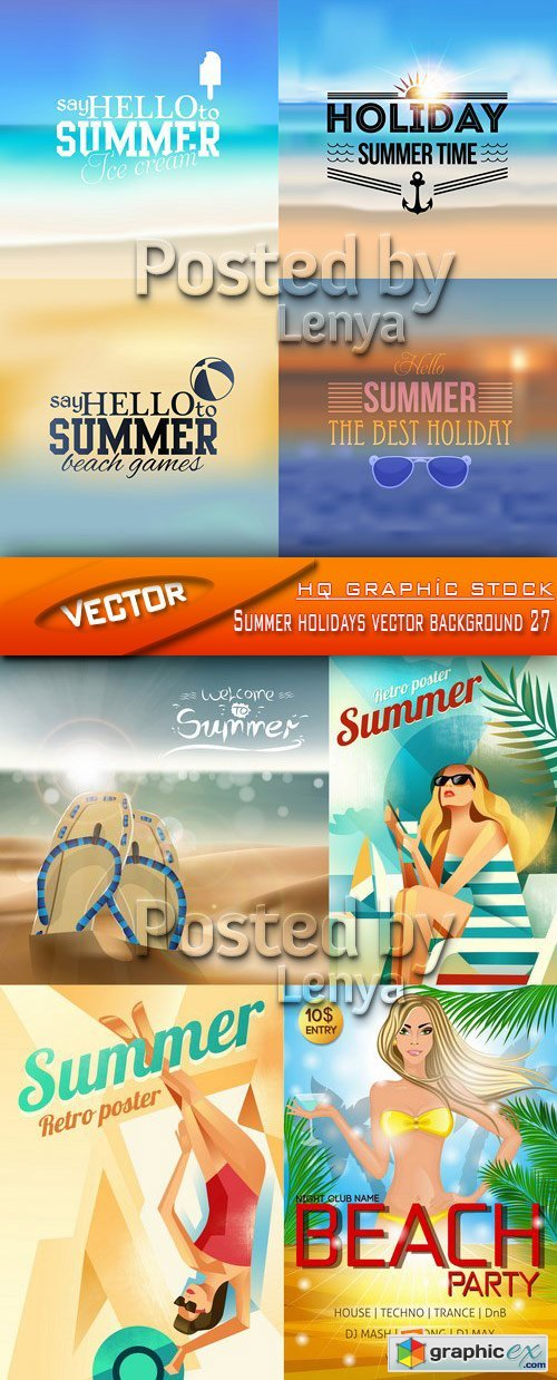 Stock Vector - Summer holidays vector background 27