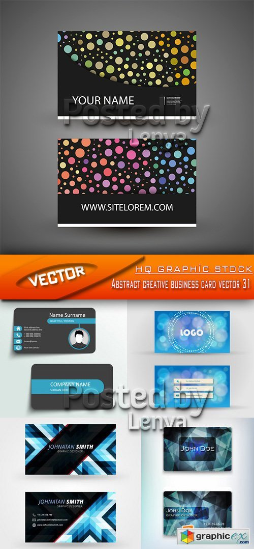 Stock Vector - Abstract creative business card vector 31