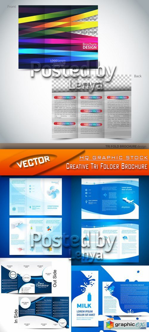 Stock Vector - Creative Tri Folder Brochure
