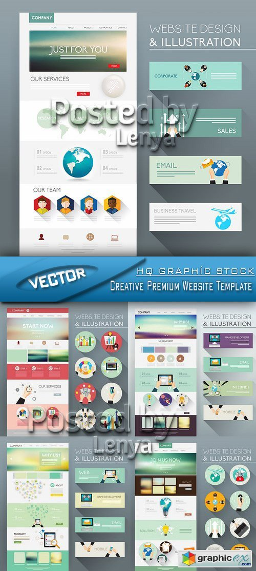 Stock Vector - Creative Premium Website Template