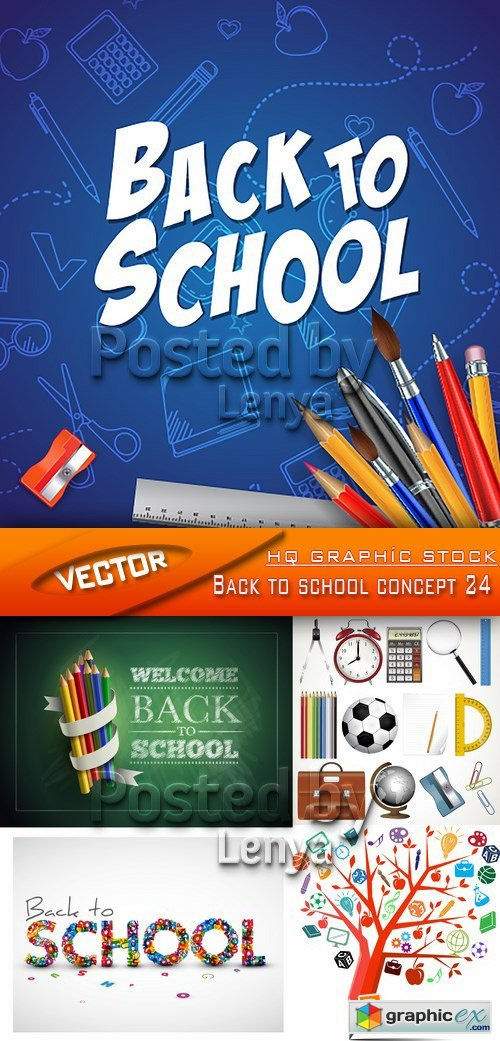Stock Vector - Back to school concept 24