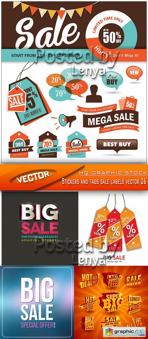 Stock Vector - Stickers and tags sale labels vector 26