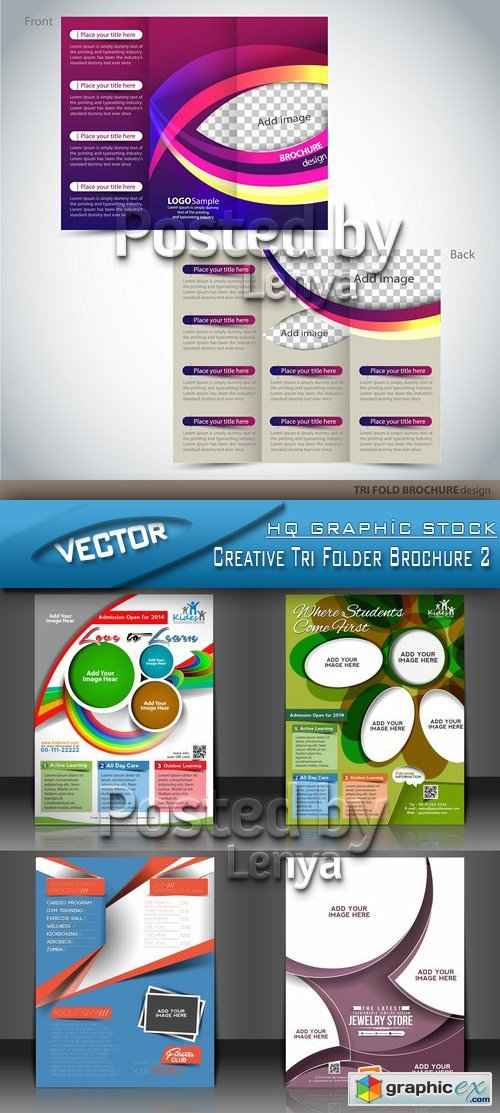 Stock Vector - Creative Tri Folder Brochure 2