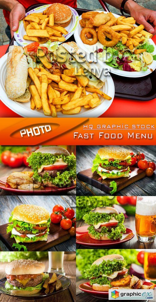 Stock Photo - Fast Food Menu
