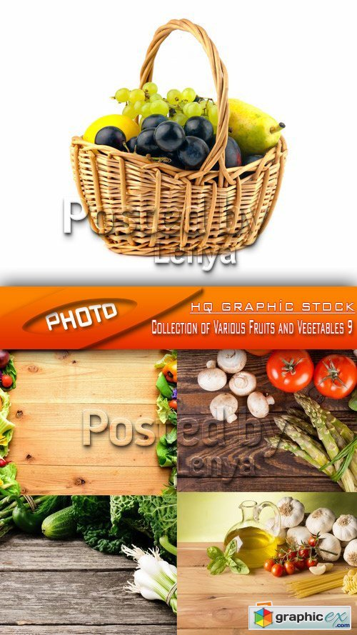 Stock Photo - Collection of Various Fruits and Vegetables 9