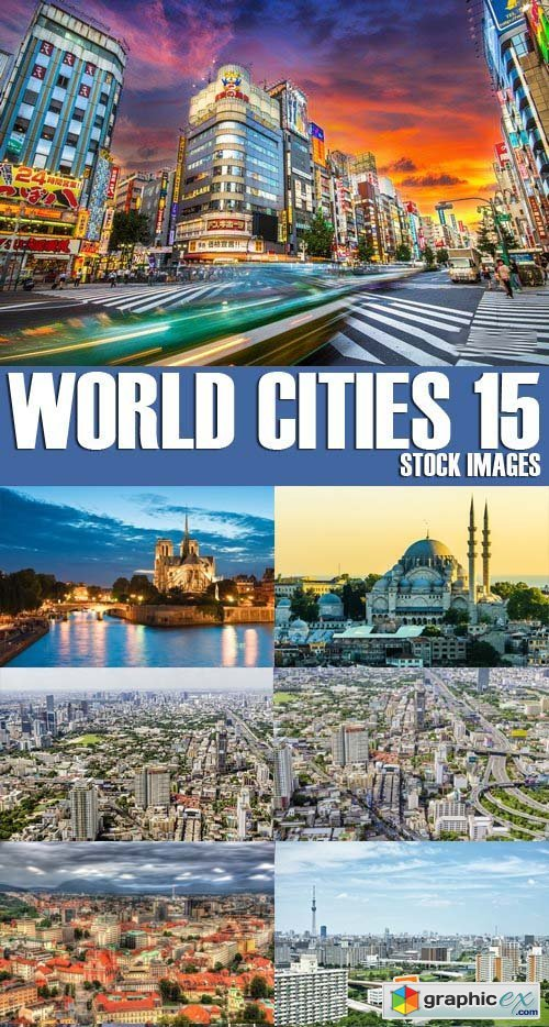 Stock Photos - World Cities 15, 25xJPG
