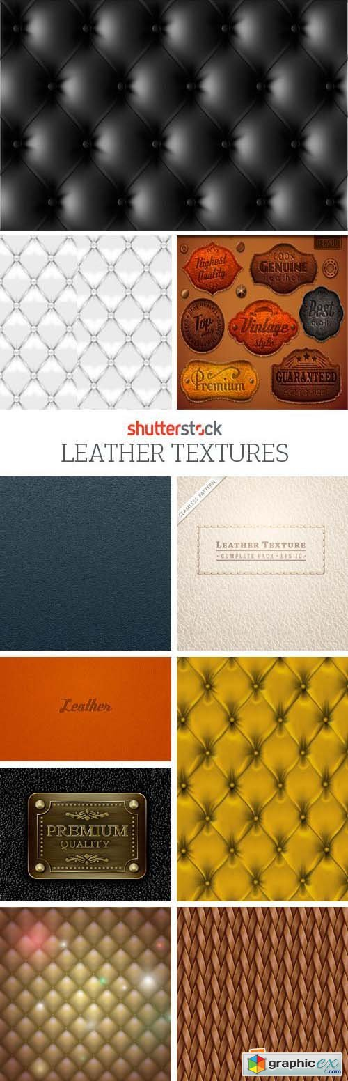 Amazing SS - Leather Textures, 25xEPS