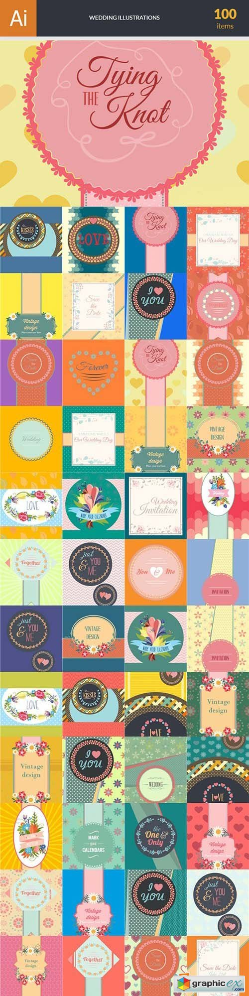 Wedding Vector Bundle 102xEPS