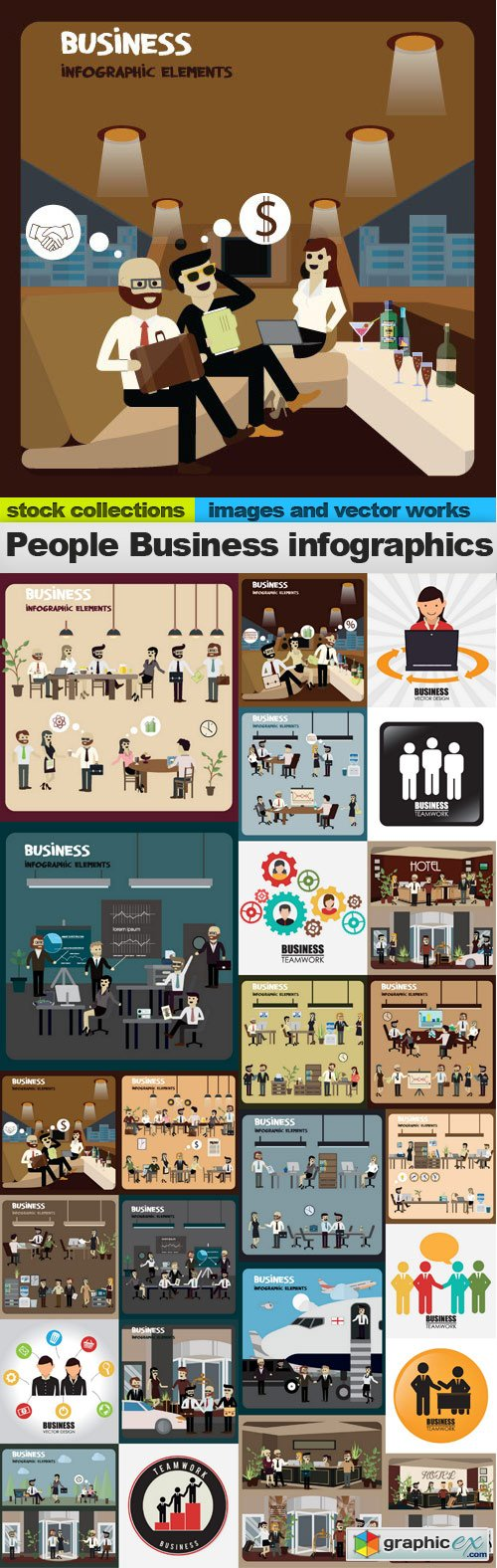 People Business infographics 25xEPS