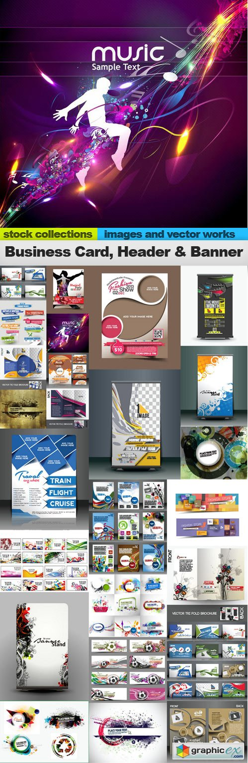 Business Card, Header & Banner 25xEPS