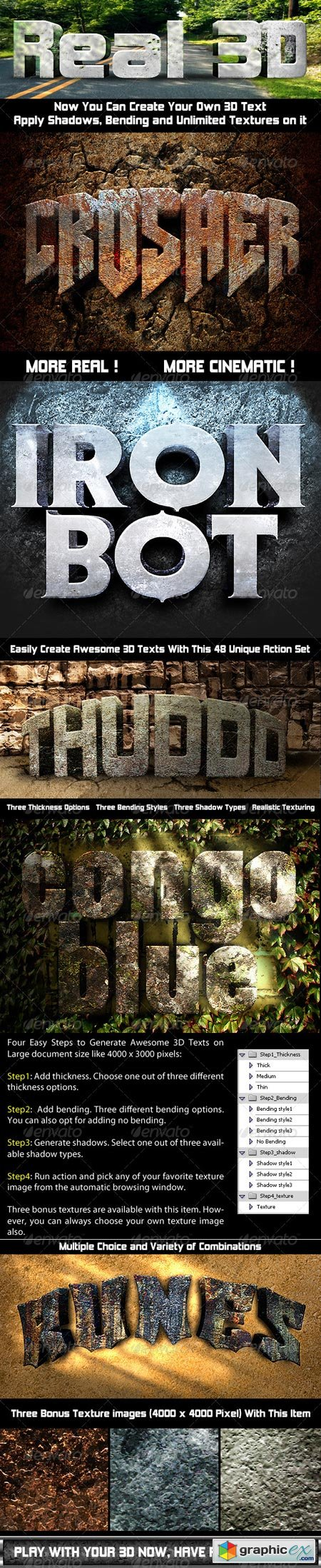 Photoshop Text Effect Cinematic 3D Actions 641746