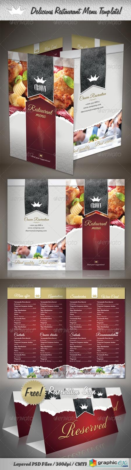 Delicious Restaurant Menu Template 2021633
