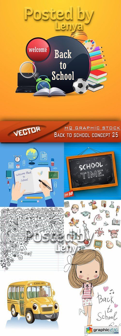 Stock Vector - Back to school concept 25