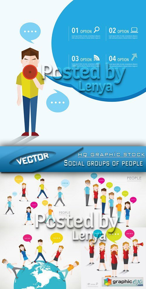 Stock Vector - Social groups of people