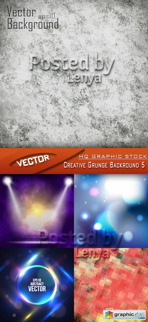 Stock Vector - Creative Grunge Backround 5
