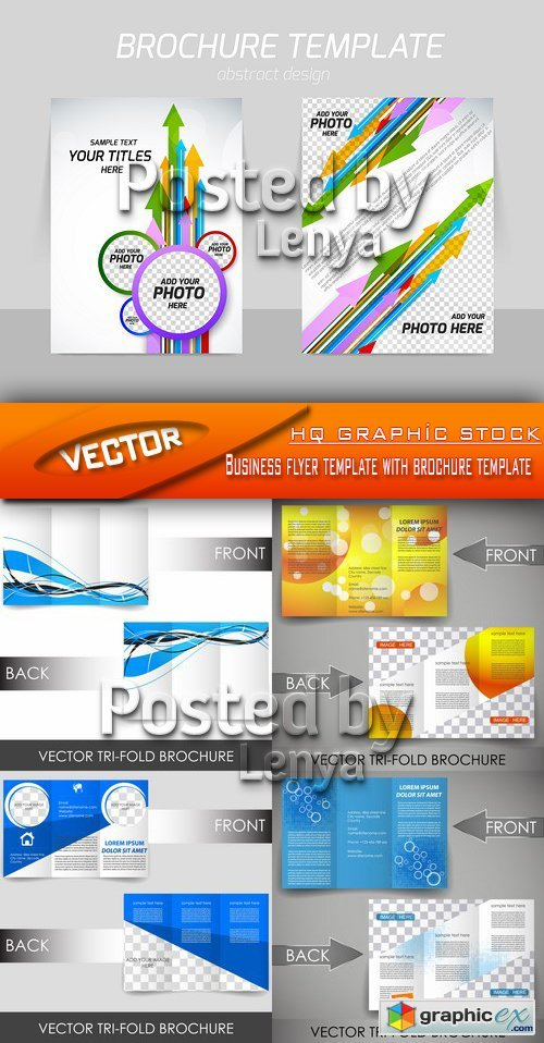 Stock Vector - Business flyer template with brochure template