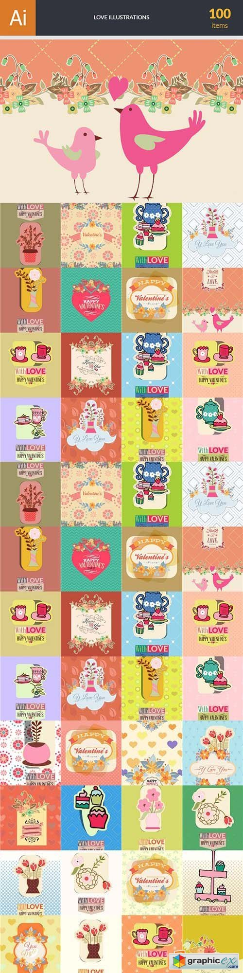 Love Vector Bundle 102xEPS