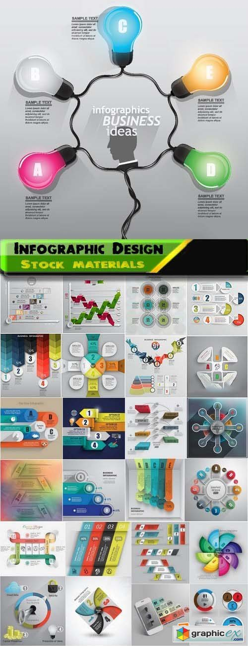 Infographic Design Elements in vector set from stock 75 25xEPS