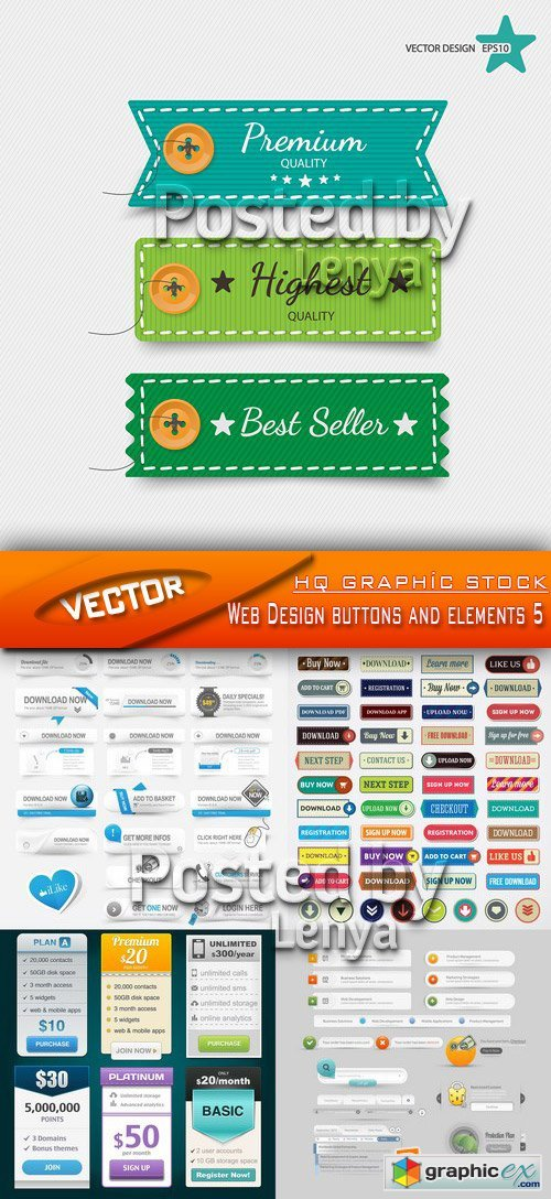 Stock Vector - Web Design buttons and elements 5