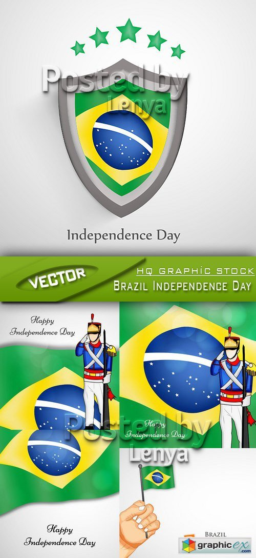 Stock Vector - Brazil Independence Day